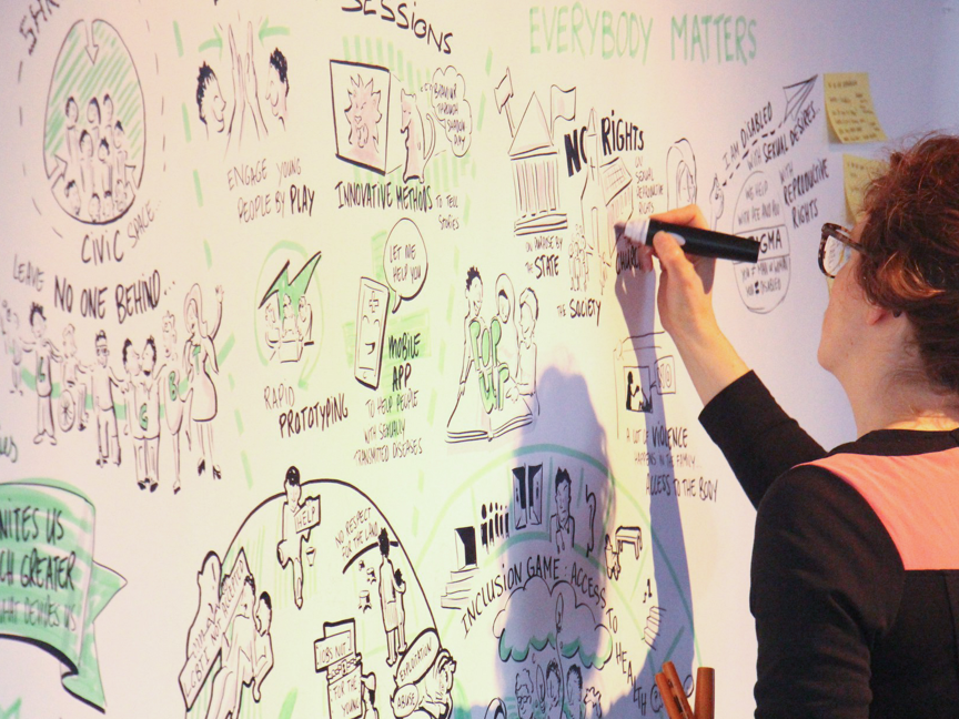 Graphic Recording and Visual Support for Oxfam Novib